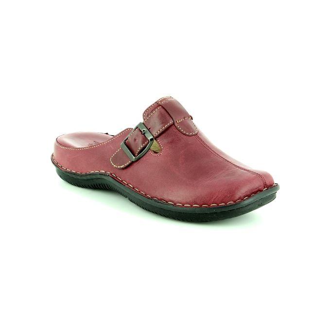 Walk in the City Lagoli 4988-31880 Plum slipper mules