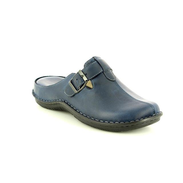Walk in the City Slipper Mules - Navy Leather - 4988/31880 LAGOLI 81