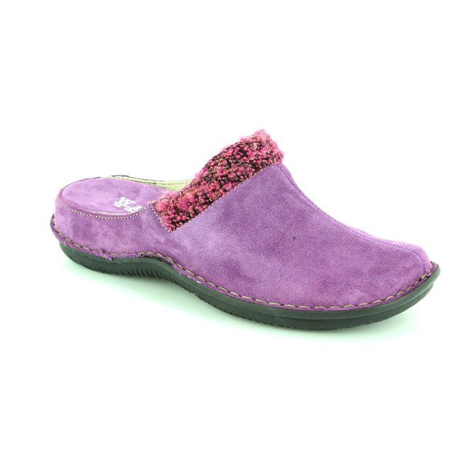Walk in the City Lagos 4988-31971 Purple suede slipper mules