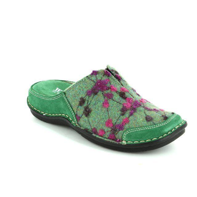 Walk in the City Slipper Mules - Green multi - 4988/32010 LAGOTO