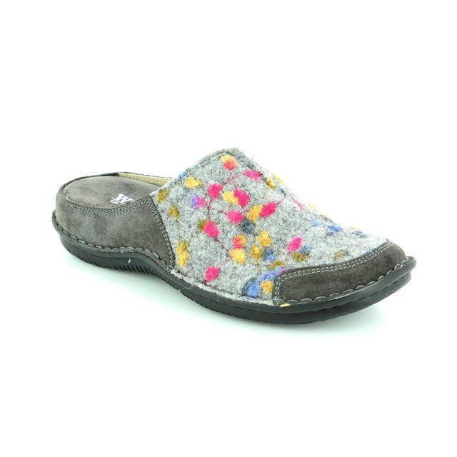 Walk in the City Lagoto 4988-32010 Light grey multi slipper mules