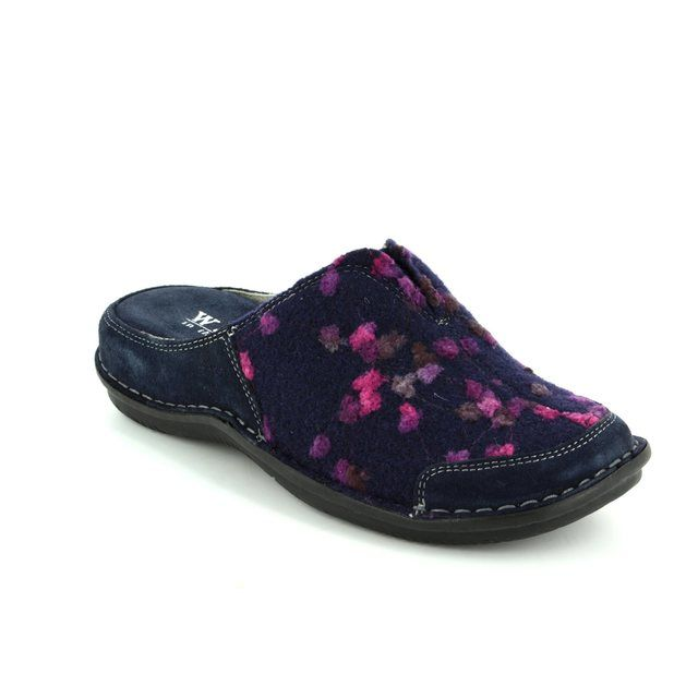 Walk in the City Slipper Mules - Navy multi - 4988/32010 LAGOTO