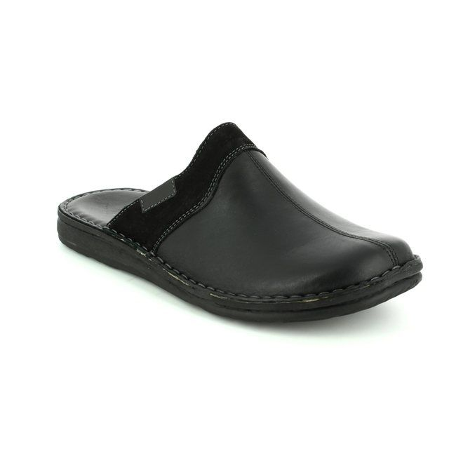Walk in the City Mule Slippers - Black leather - 2307/28800 LEAMU