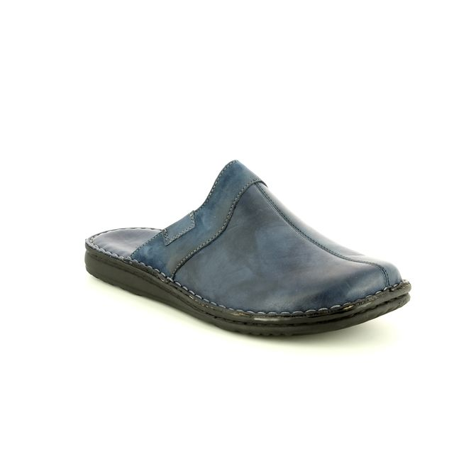 Walk in the City Mule Slippers - Navy Leather - 2307/28807 LEAMU