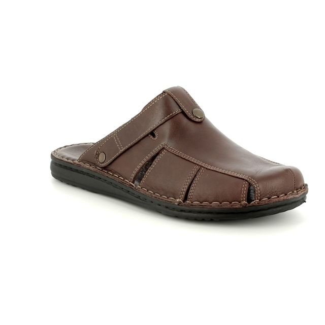 Walk in the City Mule Slippers - Brown - 2307/35200 LEAMUSTRAP