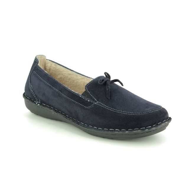 Walk in the City Slippers - Navy Suede - 7375/17441 MOCBOW