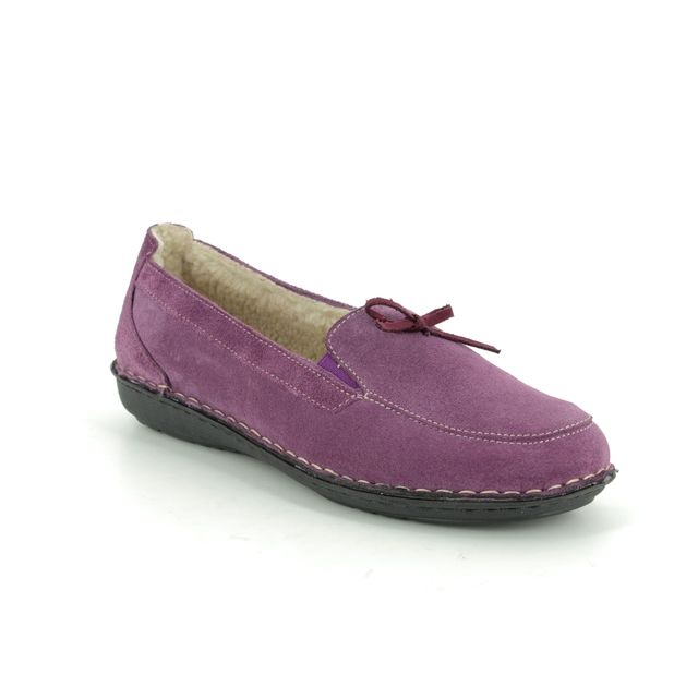 Walk in the City Slippers - Purple suede - 7375/17441 MOCBOW