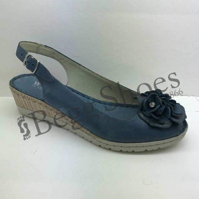 Walk in the City Wedge Shoes - Navy - 8103/28868 MOSEDIA