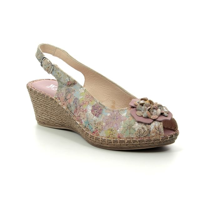 Walk in the City Slingback Shoes - Taupe floral - 8103/28868 MOSEDIA