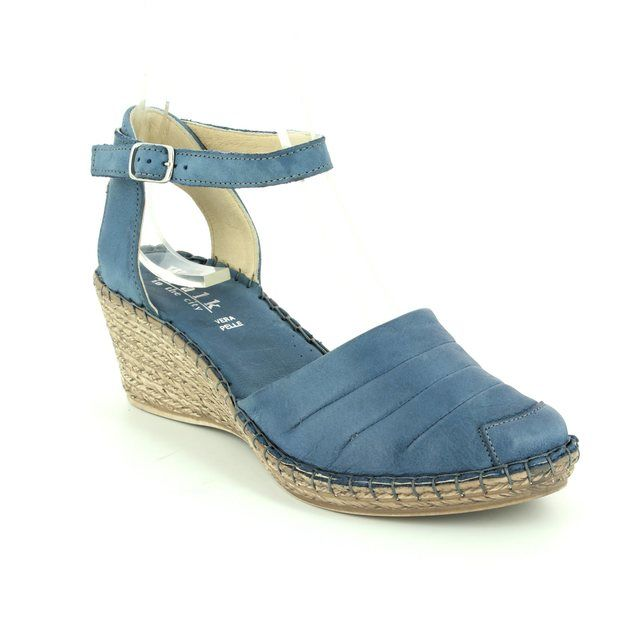Walk in the City Mosel 8103-185501 Blue Espadrilles
