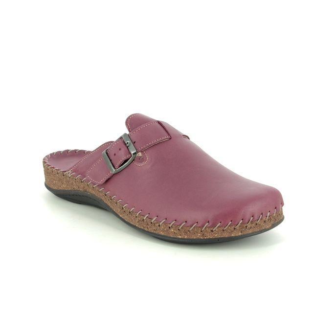 Walk in the City Slippers - Purple Leather - 3861/36700 MULEIBEL