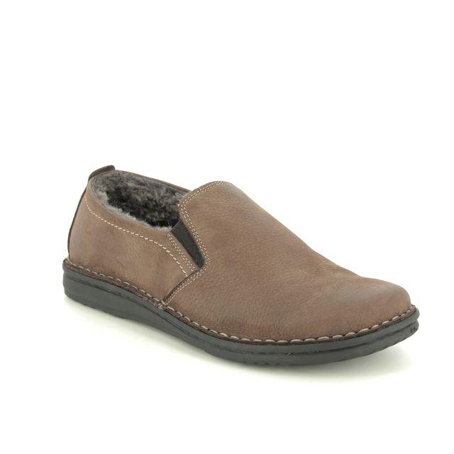 Walk in the City Slippers - Brown nubuck - 2307P/37661 NOBLEY FUR