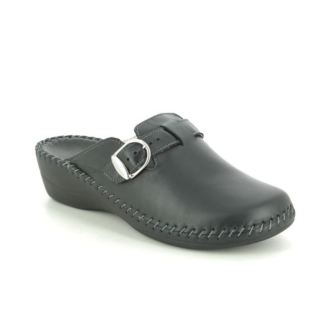Walk in the City Slippers - Black leather - 3016/16770 RELABETSY