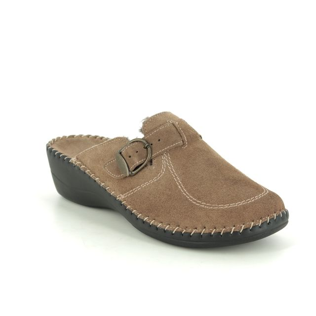 Walk in the City Slippers - Taupe suede - 3016P/19350 RELABETSY