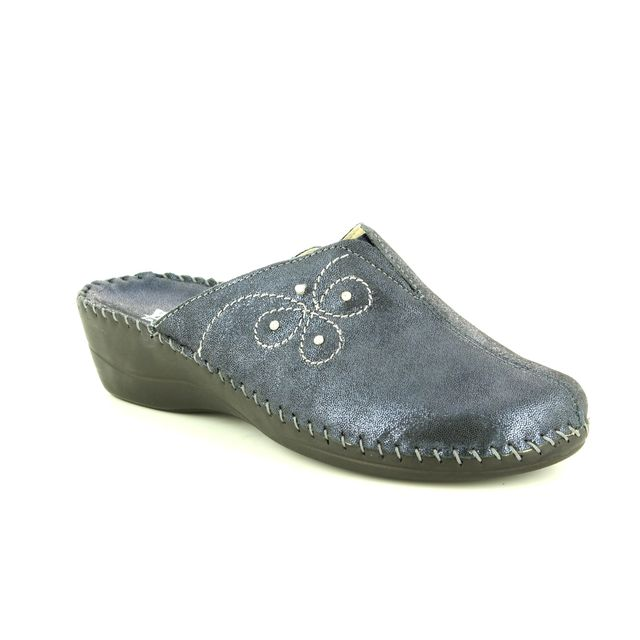 Walk in the City Slipper Mules - Navy - 3016/23460 RELAXFLO