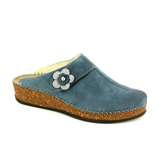 Walk in the City Slipper Mules - Blue - 1124/16970 SULIFLO