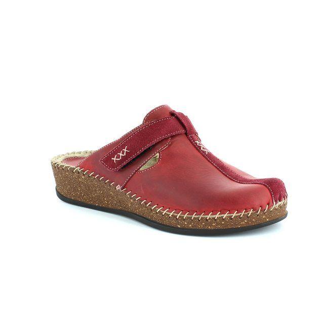 Walk in the City Slipper Mules - Dark Red - 1124/16948 SULIVAN