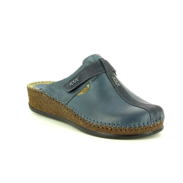 Walk in the City Slipper Mules - Navy leather - 1124/16940 SULIVAN 85