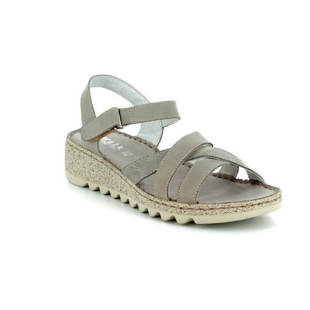 Walk in the City Wedge Sandals - Light Grey - 9371/30030 TRAM