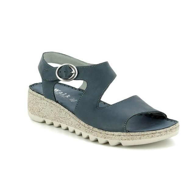 Walk in the City Wedge Sandals - Denim leather - 9371/36170 TRAMBA