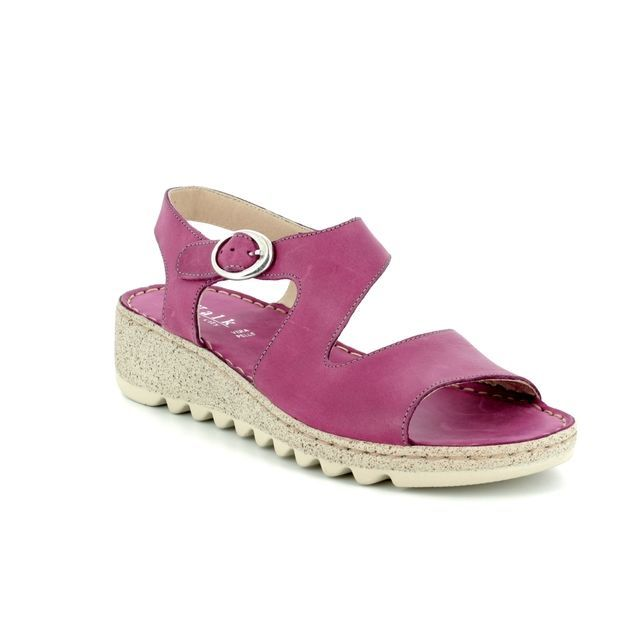 Walk in the City Tramba 9371-36170 Pink Wedge Sandals