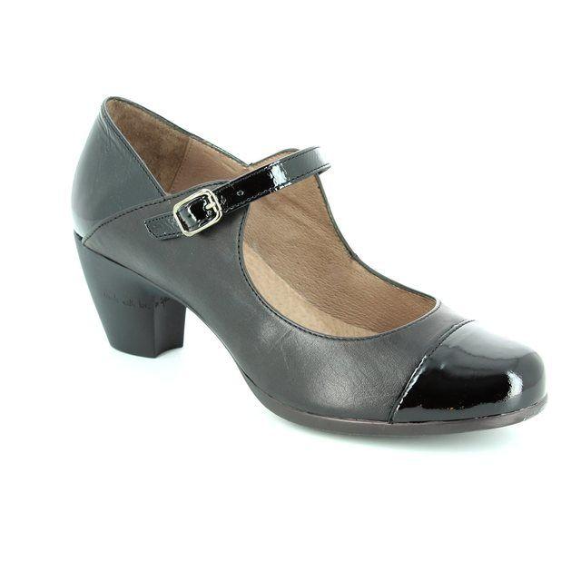 Wonders 36112-30 Black heeled shoes