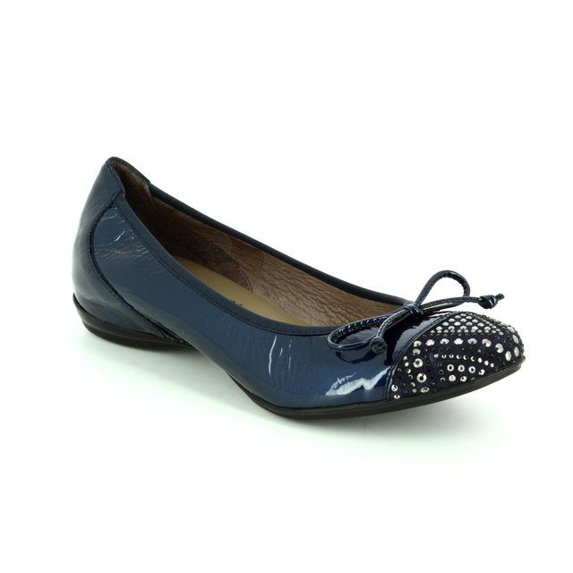 Wonders Pumps - Navy Patent-Suede - A3082/70 COCODIA
