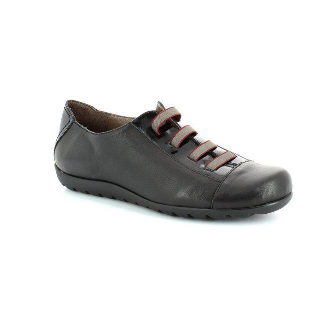 Wonders A7005-30 Black lacing shoes