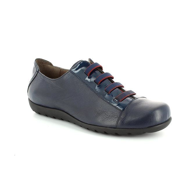 Wonders A7005-70 Navy lacing shoes