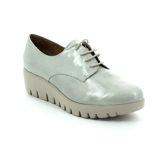 Wonders Lacing Shoes - Light grey patent - C3370/00 FLYMORE
