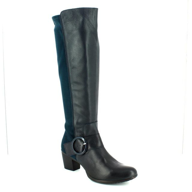 Wonders Knee-high Boots - Navy - G4704/77 HEXWILL