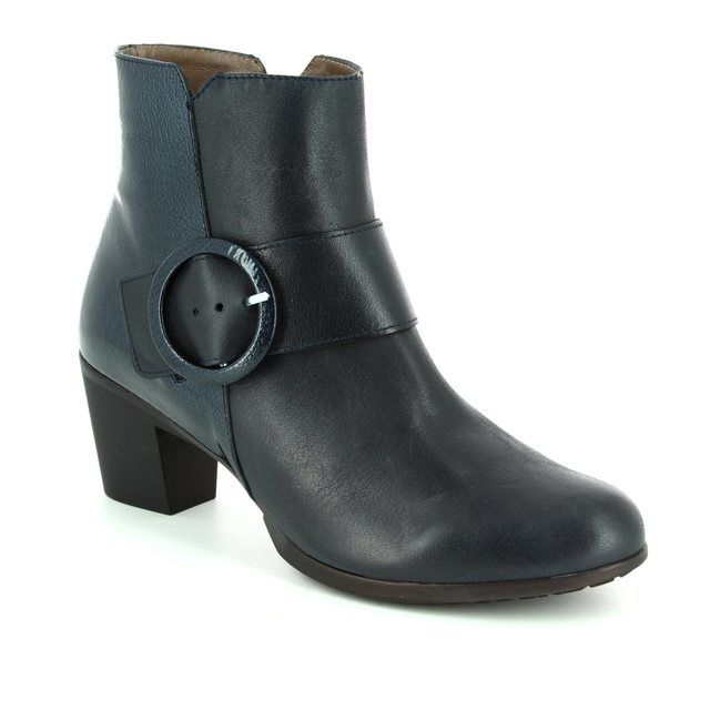 Wonders Ankle Boots - Navy patent - G4705/70 HEXANK