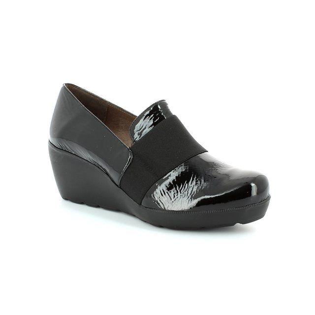 Wonders H2083-40 Black patent shoe-boots