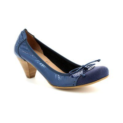 Wonders High-heeled Shoes - Navy Patent-Suede - I8391/70 IGUANA