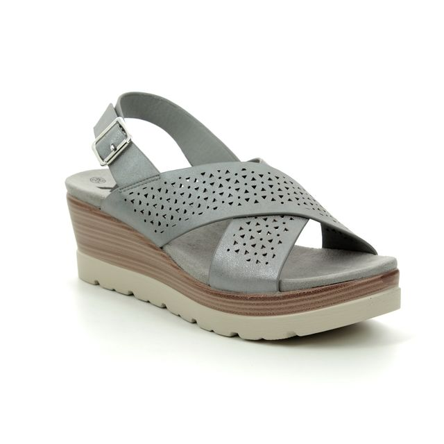 XTI Wedge Sandals - Grey - 04886201 MARITSA