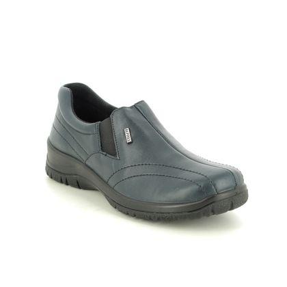 Alpina Comfort Slip On Shoes - Navy leather - 4257/E2 EIKELEA 05 TEX