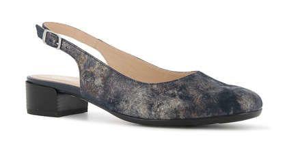 Alpina Slingback Shoes - Navy Nubuck - 9K26/2 EMILY  H