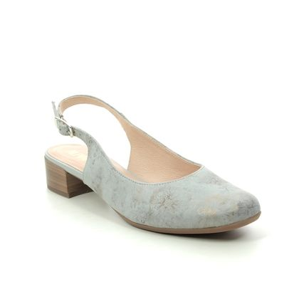 Alpina Slingback Shoes - Light Grey Nubuck - 9K26/3 EMILY  H