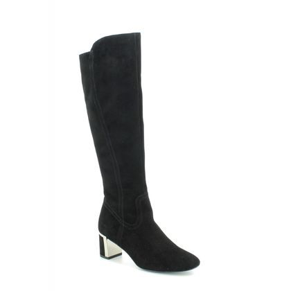 Alpina Knee High Boots - Black Suede - 7L56/2 ESTELLEO