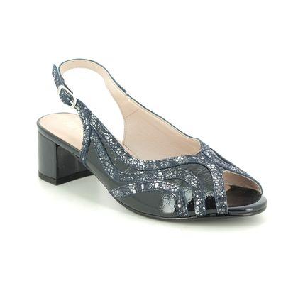 Alpina Slingback Shoes - Navy patent - 9L41/1 FLORENCE G