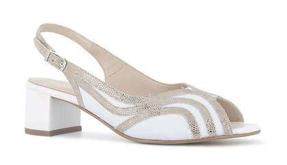 Alpina Slingback Shoes - WHITE LEATHER - 9L41/2 FLORENCE G