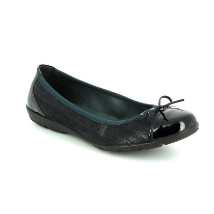 Alpina Court Shoes - Navy patent - 8X76/J LOVAGE