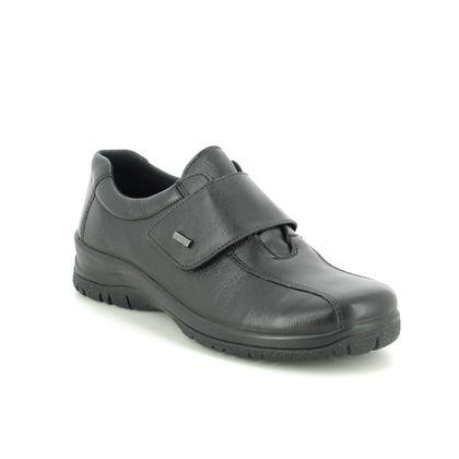 Alpina Comfort Slip On Shoes - Black leather - 4230/8 RONYVEL 05 TEX