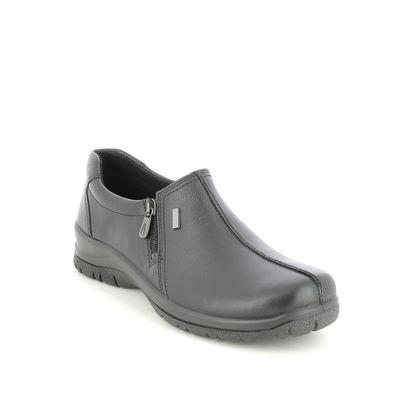 Alpina Comfort Slip On Shoes - Black leather - 4237/2 RONYZIP G TEX