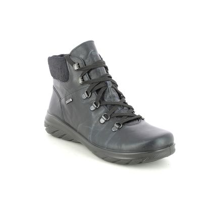 Alpina Lace Up Boots - Navy Leather - 0R84/5 ROYAL  TEX BOOT
