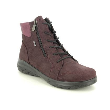 Alpina Lace Up Boots - Wine leather - 0R85/2 ROYAL TEX BOOT