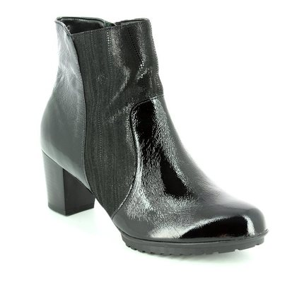 Alpina Fashion Ankle Boots - Black patent suede - 7I38/2 SANAPAN