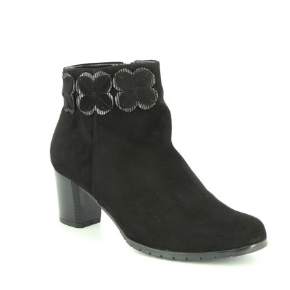 Alpina Fashion Ankle Boots - Black Suede - 7K17/1 SINDI