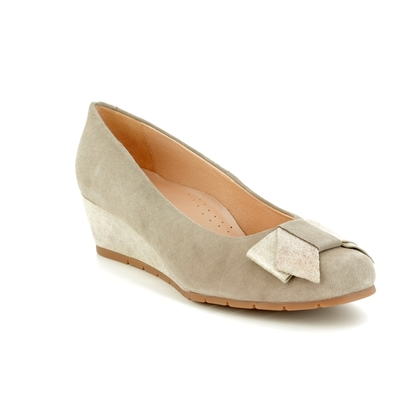 Alpina Wedge Shoes  - Light Grey Suede - 8636/4 TELMA