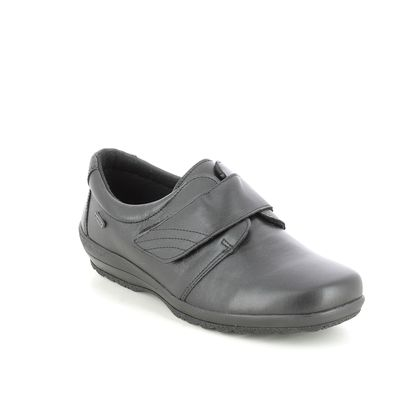 Alpina Comfort Slip On Shoes - Black leather - 811B/1 VITA VEL K FIT
